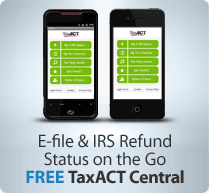 E-file and IRS Refund Status on the Go - FREE TaxACT Central