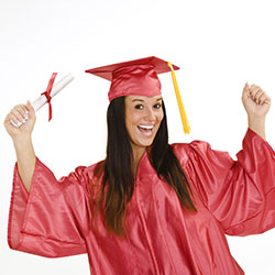 Woman Excited About Graduating