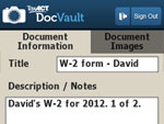 TaxACT DocVault™ Record Document Details