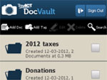 TaxACT DocVault™ Home Screen