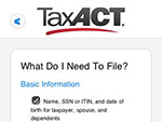TaxACT Central™ My Tax Checklist