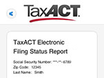 TaxACT&trade Central My E-file Status