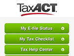 TaxACT Central™ Home Screen