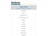 TaxAct Online Plus TaxTutor Guidance