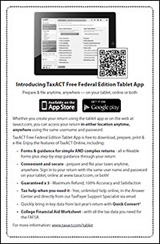 Introducing TaxACT Free Federal Edition Tablet App