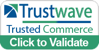 "An image of a Trustwave badge that says ""Trustwave. Trusted Commerce. Click to Validate."""