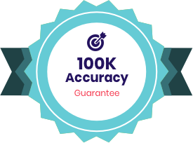 100% Accuracy Guarantee