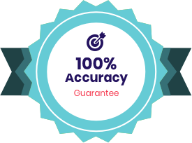 100% Accuracy Guarantee badge