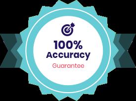 100% Accuracy Guarantee badge