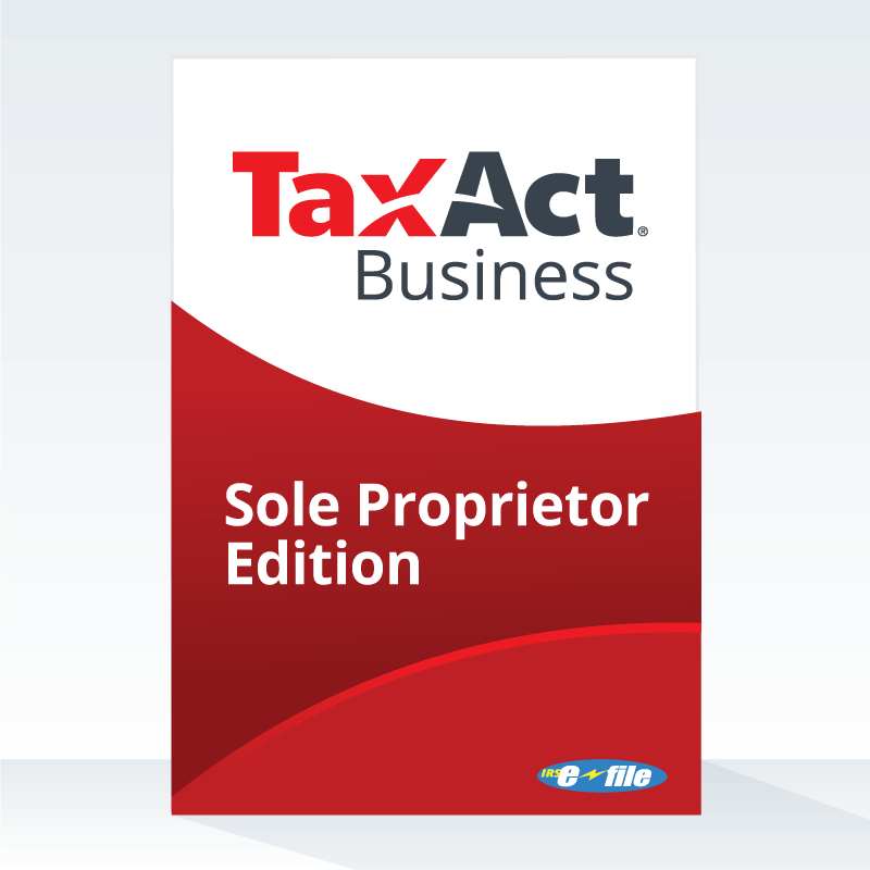 TaxAct 2017 Sole Proprietor Edition