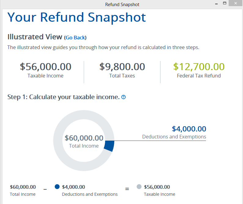 Refund snapshot illustrated view1 – TaxAct Professional