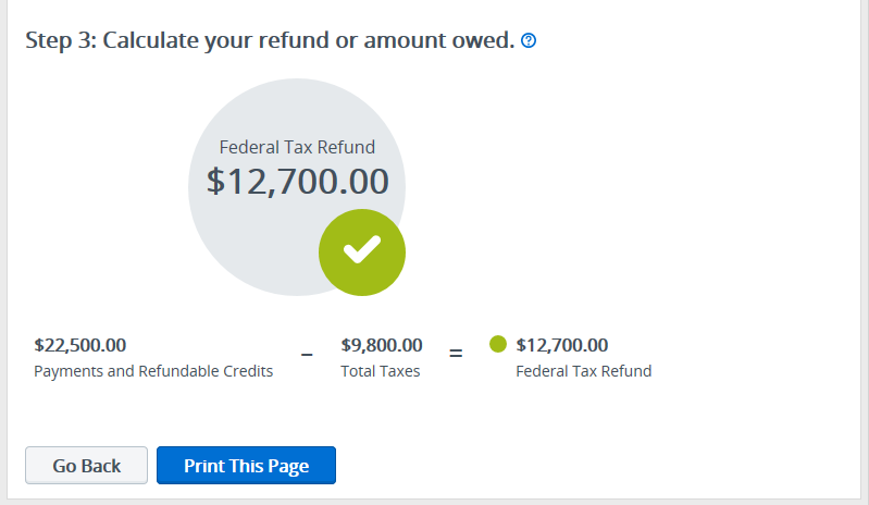 Refund snapshot illustrated view3 – TaxAct Professional