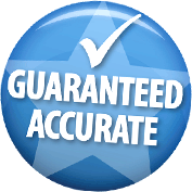 Accuracy Guarantee Seal